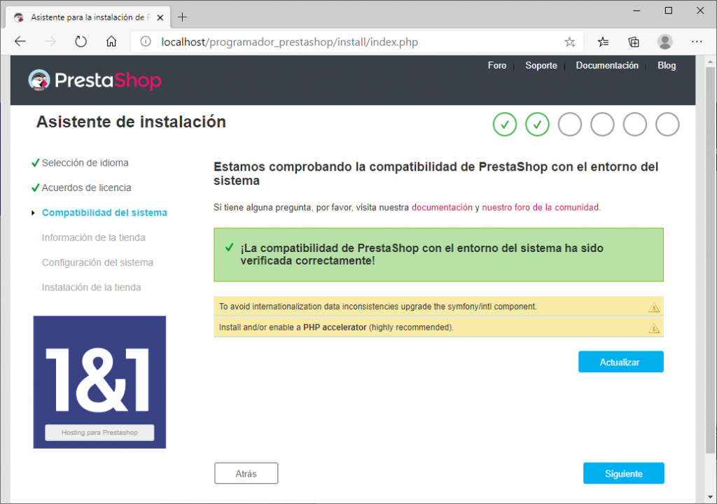 prestashop instalacion en local