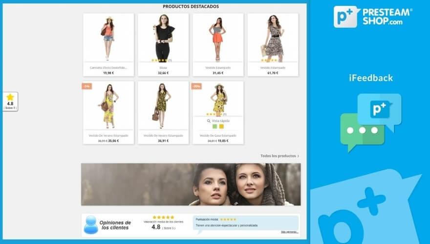 el modulo de resenas ifeedback para tu tienda online en prestashop