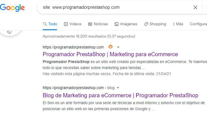 comando site contenido duplicado